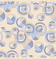 elegant retro geometric seamless pattern vector image vector image