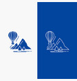 explore travel mountains camping balloons line vector image