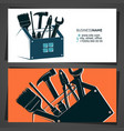 fandyman repair and construction business card vector image vector image