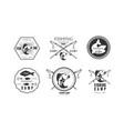 fishing premium camp since 1965 logo design vector image vector image