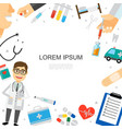 flat healthcare colorful template vector image vector image
