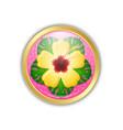 golden hawaiian badge in polynesian style vector image vector image