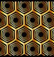 golden hexagonal optical illusion vector image vector image