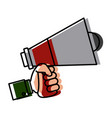 hand with bullhorn vector image