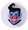happy cartoon vampire head icon vector image vector image
