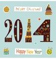 Happy New Yea greeting card vector image vector image
