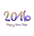 Happy New Year 2016 purple greeting card made in vector image vector image