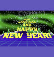 happy new year congratulation card vector image vector image
