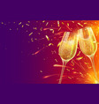 happy new year with champagne glasses festive vector image vector image