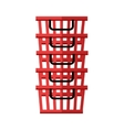 Heap of red shopping baskets vector image vector image