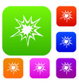 heavy explosion set color collection vector image vector image