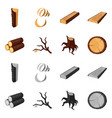 isolated object of tree and raw logo set of tree vector image vector image