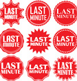 Last minute red label Last minute red sign Last vector image