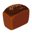 loaf of brick bread realistic style isolated vector image vector image
