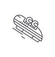 luge line icon concept luge linear vector image