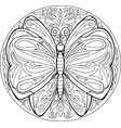 mandala butterfly vector image vector image