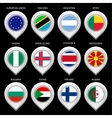 Map marker with flag-set second vector | Price: 1 Credit (USD $1)