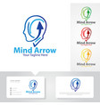 mind arrow logo designs vector image