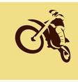 Motocross enduro racer vector image vector image