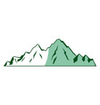mountain peak alpine nature tourism vector image