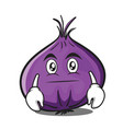 neutral red onion character cartoon vector image vector image