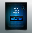 New year party flyer template - dark blue design vector image vector image