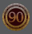 ninetieth happy anniversary celebration symbol vector image vector image