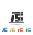 office folders with papers and documents icon vector image vector image