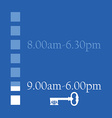 Opening hours vector image vector image