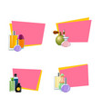 perfume bottles stickers with place vector image vector image