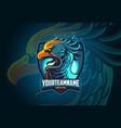 phoenix esports logo design vector image
