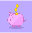 piggy bank moneybox flat illu vector image