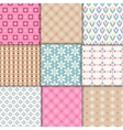 pretty pastel patterns vector image vector image