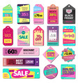 price sale clothes tag modern pattern price card vector image
