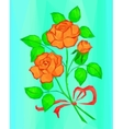 Red and Orange Rose Flowers Low Poly vector image vector image
