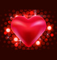 red valentine heart on shiny background love vector image vector image
