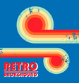 retro design background with twisted colored vector image vector image