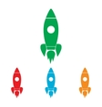 Rocket sign Colorfull set vector image vector image