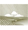 rural farm scene vector image vector image