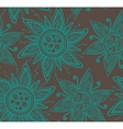 Seamless background pattern with ornament vector image