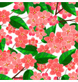 seamless pattern with sakura flowers branches vector image vector image