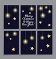 set of card templates decorated with stars and vector image vector image