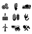 Set of energy and industry icons vector image vector image