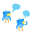 set of funny cartoon blue bird vector image vector image
