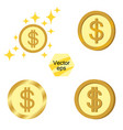 set of gold coins jackpot or success concept vector image