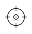 shooting target icon in flat style aim sniper