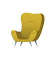 soft chair furniture cartoon element for room vector image vector image
