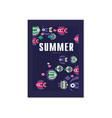 summer tropical banner template trendy seasonal vector image vector image