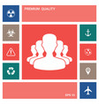 team icon symbol elements for your design vector image