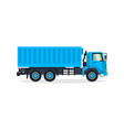 truck commercial transport transport for the vector image vector image